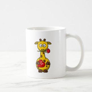Valentine Giraffe Cartoon Mugs