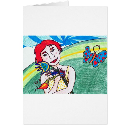 valentine girl card