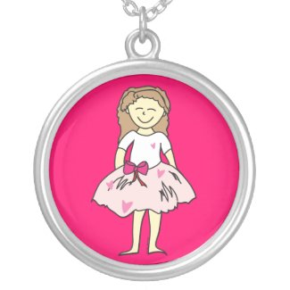 Valentine Girl Pendant Necklace