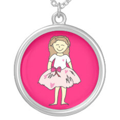 Valentine Girl Pendant Necklace at Zazzle