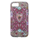 Valentine Girly Elegant Heart Monogram iPhone 7 Case