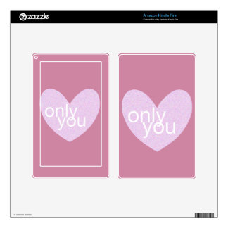 Valentine Gram Decal For Kindle Fire