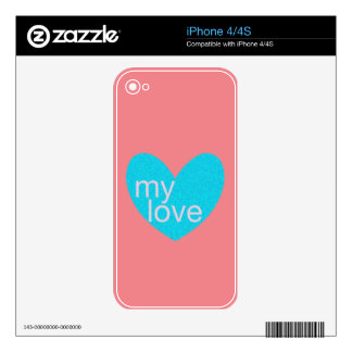 Valentine Gram Decals For The iPhone 4S