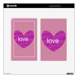 Valentine Gram Kindle Fire Decals