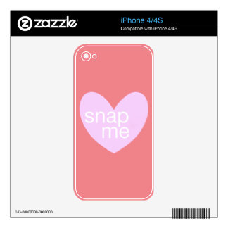 Valentine Gram Skin For The iPhone 4S