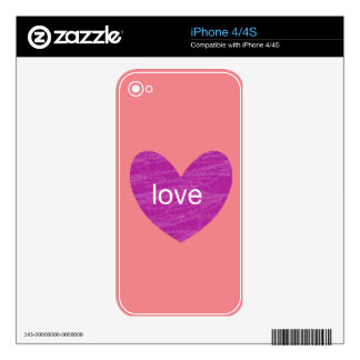 Valentine Gram Skins For iPhone 4S