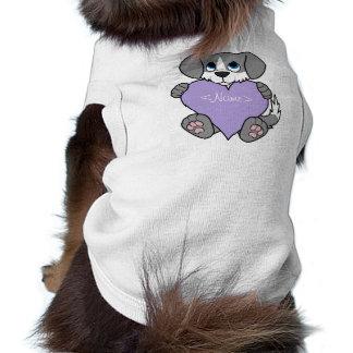 Valentine Gray Dog - Blaze & Light Purple Heart Tee