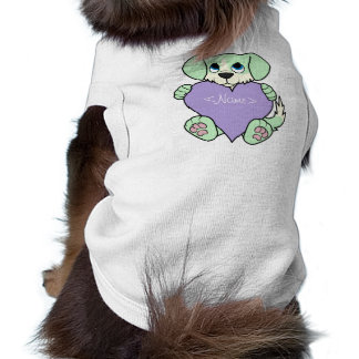 Valentine Green Dog - Blaze & Light Purple Heart Tee