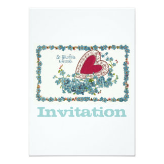 Valentine Greeting With Heart Card