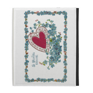 Valentine Greeting With Heart iPad Folio Covers
