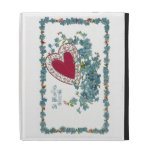 Valentine Greeting With Heart iPad Folio Cover
