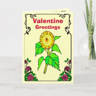 Valentine greetings, Sunflower Greeting Card