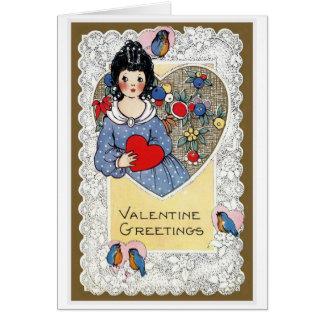 """""""Valentine Greetings"""" Vintage Card"""