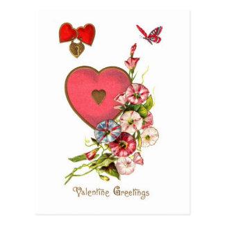 Valentine Greetings Vintage Image Postcard