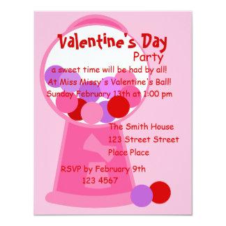 Valentine Gumball Machine Card