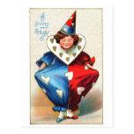 Valentine Harlequin Postcard