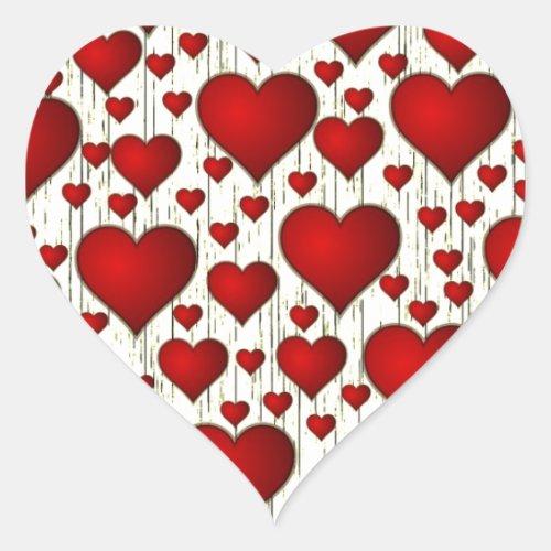 Valentine Heart Attack Heart Sticker
