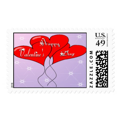 Valentine Heart Balloons Postage