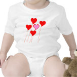 Valentine Heart Balloons Rompers