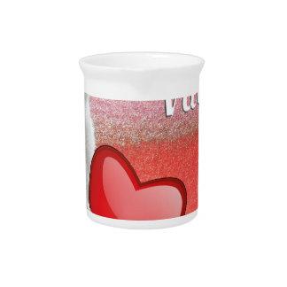 Valentine Heart Beverage Pitcher
