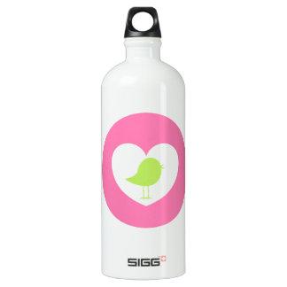 Valentine Heart Bird Water Bottle