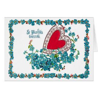 Valentine Heart Blue Card