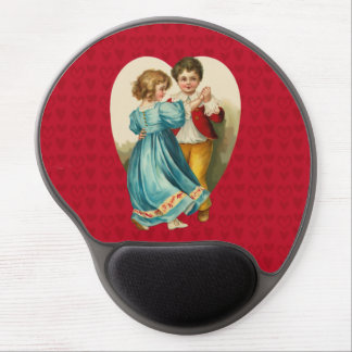 Valentine Heart Boy and Girl Dancing Gel Mousepad