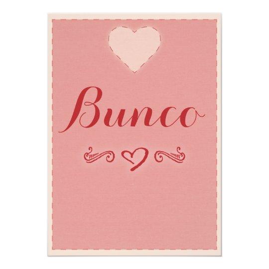 Valentine Heart Bunco Invitation Zazzle Com