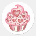 Valentine Heart Cupcake Sticker