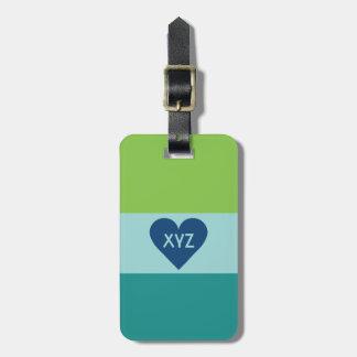Valentine Heart custom luggage tag