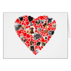 Valentine Heart Dog Photo Collage Card