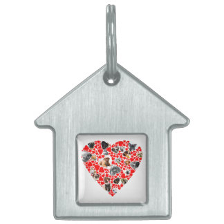 Valentine Heart Dog Photo Collage Pet Tag