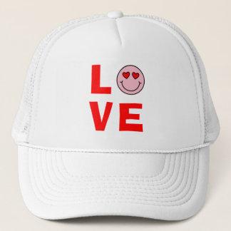 Valentine Heart Eyes Emoji Love Trucker Hat