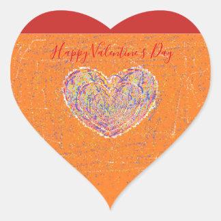 Valentine heart heart sticker