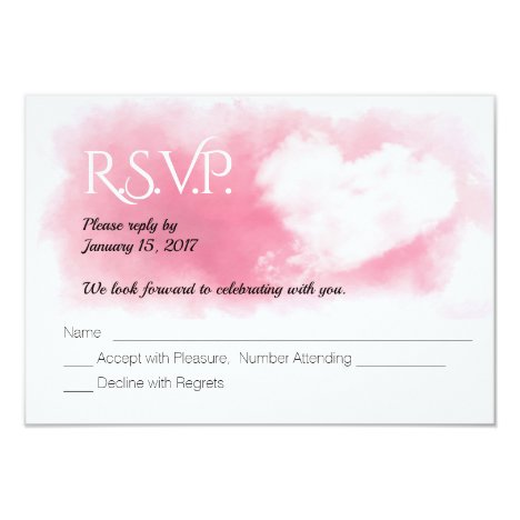 Valentine Heart  Holiday Wedding RSVP Card