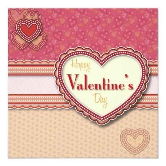Valentine Heart Invitation Square