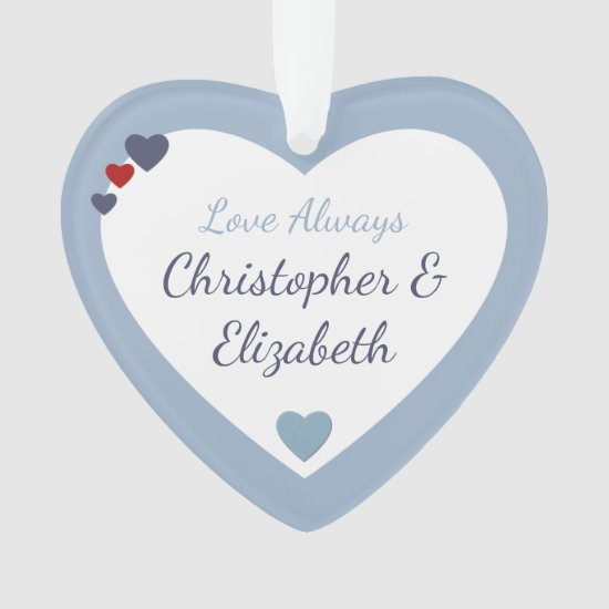 Valentine heart Love Always Husband Boyfriend Ornament
