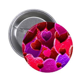 Valentine Heart Love Leaves 2 Inch Round Button