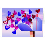 Valentine Heart Mail2 Greeting Cards