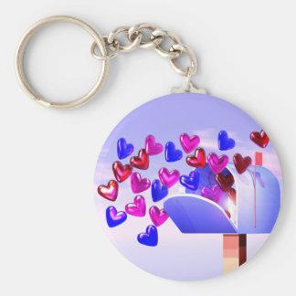 Valentine Heart Mail2 Keychain