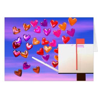 Valentine Heart Mail Card