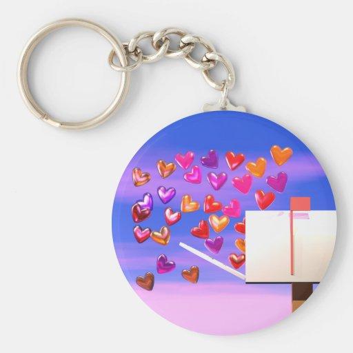 Valentine Heart Mail Keychains