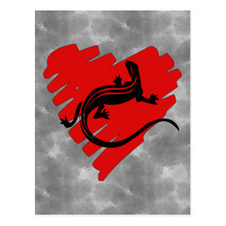 Valentine Heart Newt Postcard
