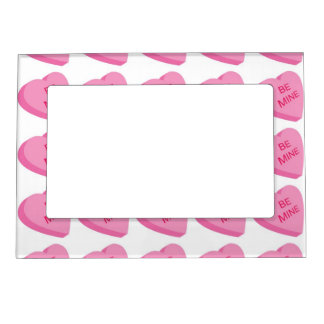 Valentine Heart Pattern 2 Picture Frame Magnets