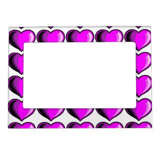 Valentine Heart Pattern 3 Magnetic Photo Frame