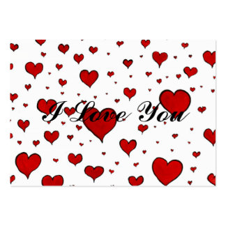 Valentine Heart Pattern Large Business Cards (Pack Of 100)