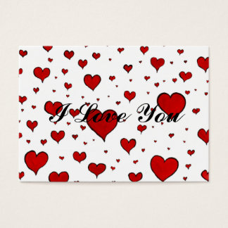 Valentine Heart Pattern Business Card