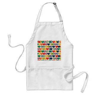 Valentine Heart Pattern Colorful Hearts Adult Apron
