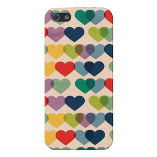 Valentine Heart Pattern Colorful Hearts Case For iPhone SE/5/5s