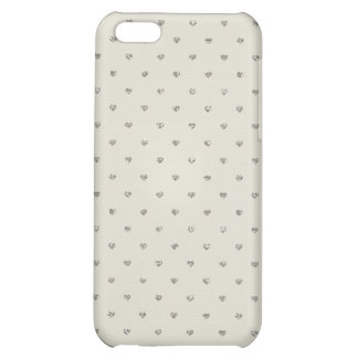Valentine Heart Pattern Glitter Silver Hearts Case For iPhone 5C